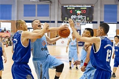 中国城市联盟中老年篮球赛在滁开赛